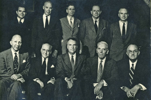 Faculty Members in 1954