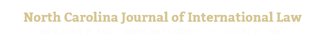 North Carolina Journal of International Law Home