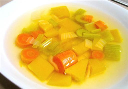 Vegetable Broth with Butternut Squash