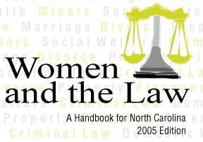Women and the Law, A Handbook for North Carolina