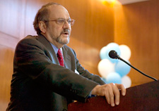 Robert Kuttner giving keynote address
