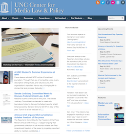 Center for Media Law Website