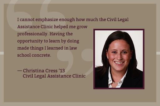 Christina Cress - Civil Legal Assistance Clinic