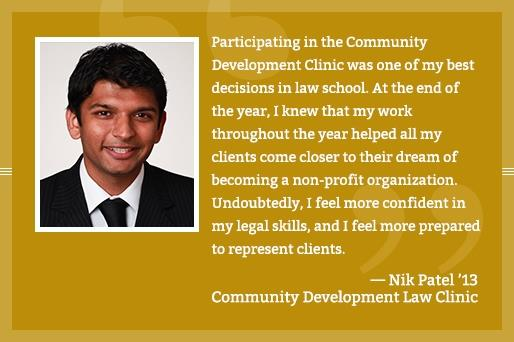 Nik Patel - Community Development Law Clinic