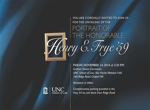 Frye Portrait Unveiling Invitation