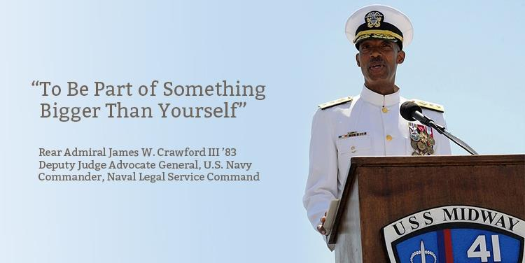 Alumnus Profile: Vice Admiral James W. Crawford III '83