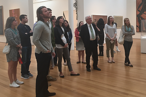 Art Law class visits the North Carolina Museum of Art.
