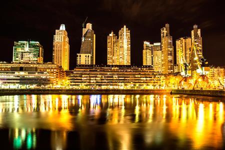 Buenos Aires at night.