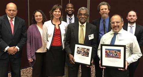 Lewis Dozier, the president of the Royal Oaks Concerned Citizens Association and the Center for Civil Rights, each awarded the Stella J. Adams Award.
