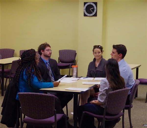 Students work with attorneys and prosecutor Erika Jones
