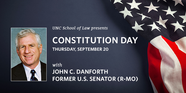 Constitution Day with Senator Danforth