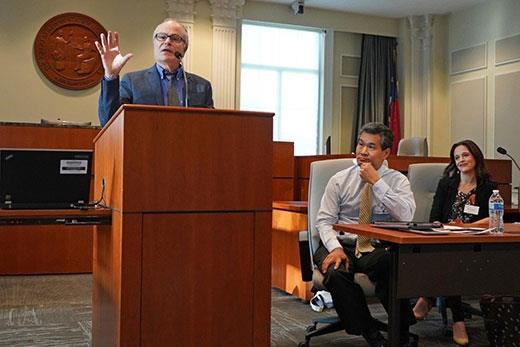 Professors Bill Marshall, Andrew Chin and Kathleen DeLaney Thomas