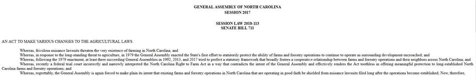 Image of NC Session Law