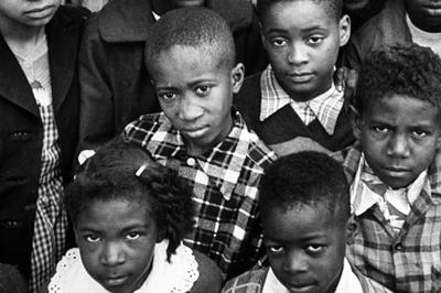 Harry Briggs Jr. (far right) with classmates. ©NAACP LDF.