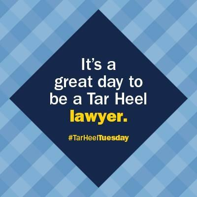 It's a great day to be a Tar Heel lawyer.