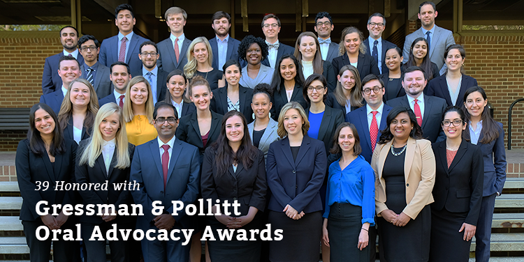 39 Honored with Gressman & Pollitt Oral Advocacy Awards
